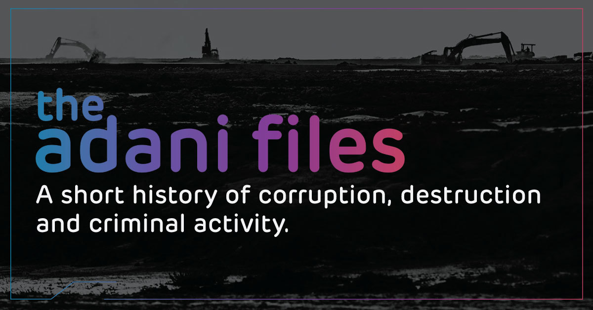 Share The Adani Files with your MP