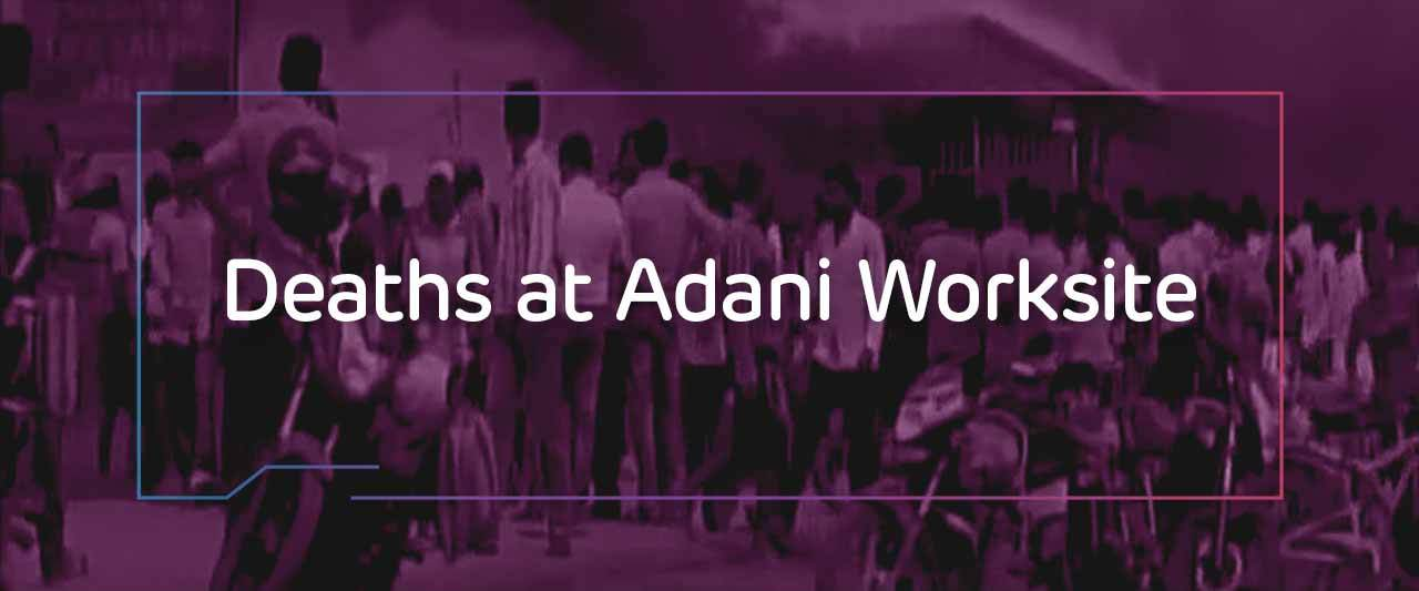 Deaths at adani worksite