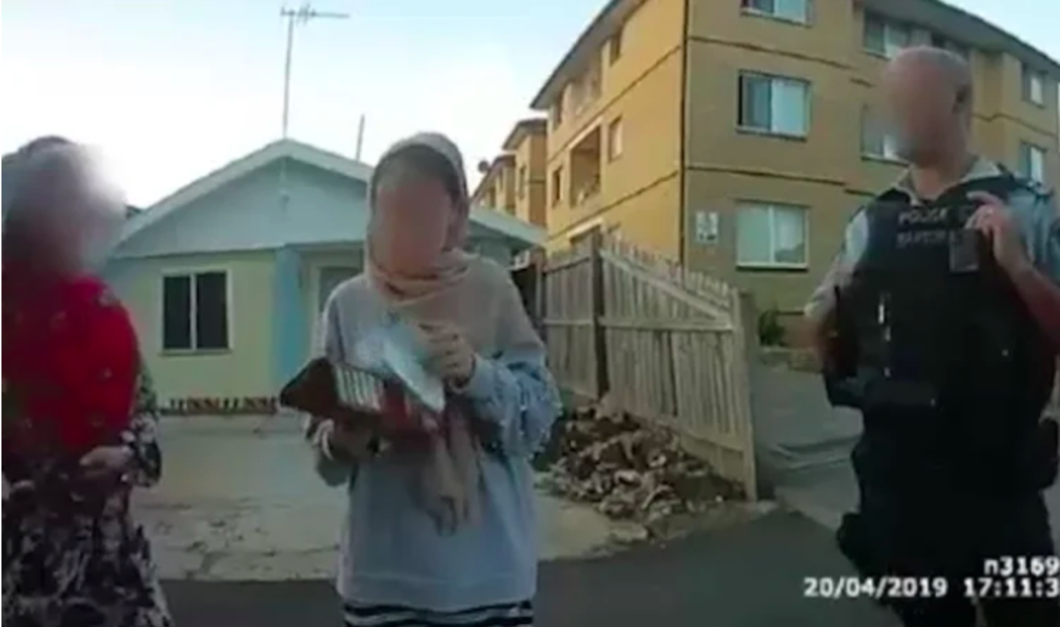 Snapshot from body camera footage released by LECC (Sydney Morning Herald)
