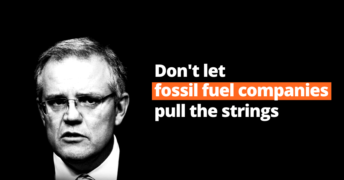 Don't let fossil fuel companies pull the strings