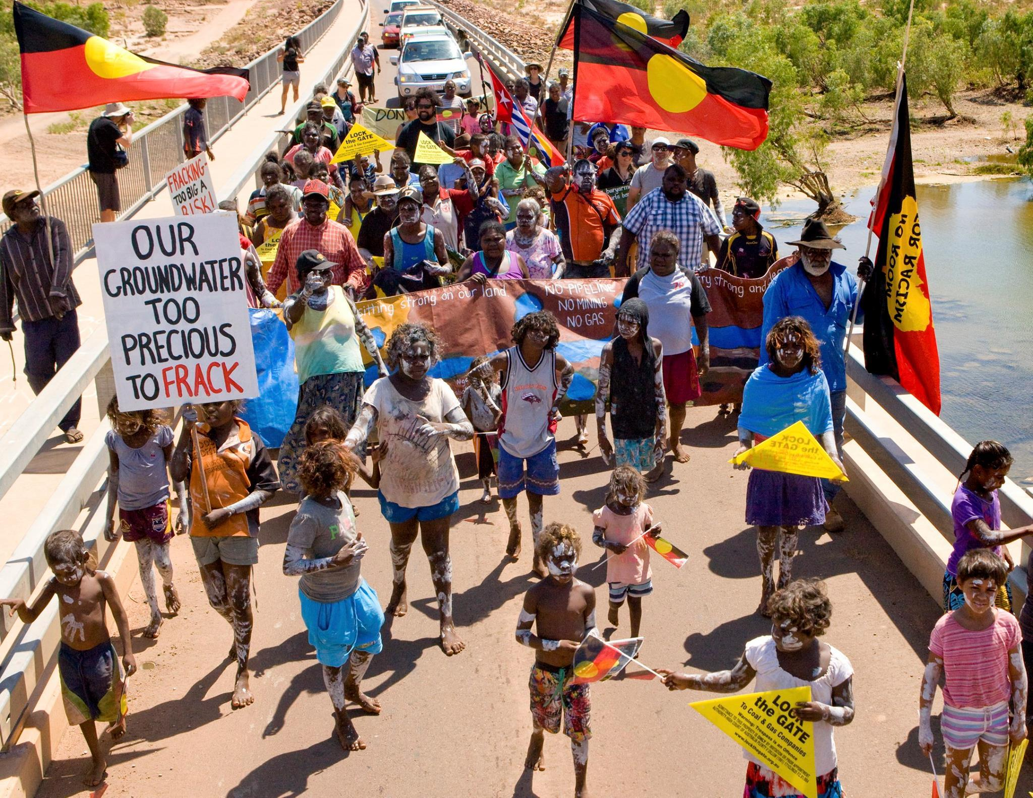 Fracking rally in the NT