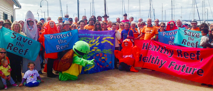 Townsville reef protest january 2014