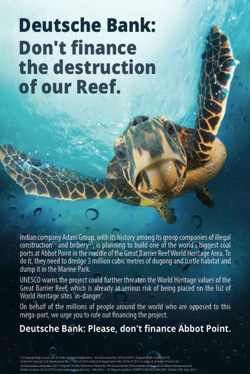 Deustche bank reef ad